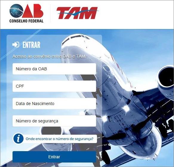 OAB anuncia convênio com a TAM Linhas Aéreas visando concessão de descontos especiais para advogados, estagiários e familiares
