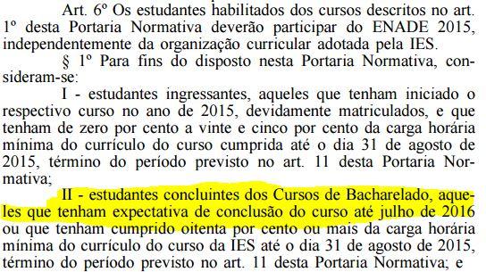 Diário Oficial da União data ENADE em conflito com 1ª fase do XVIII Exame OAB