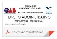 XV Exame OAB - Prova Direito Administrativo